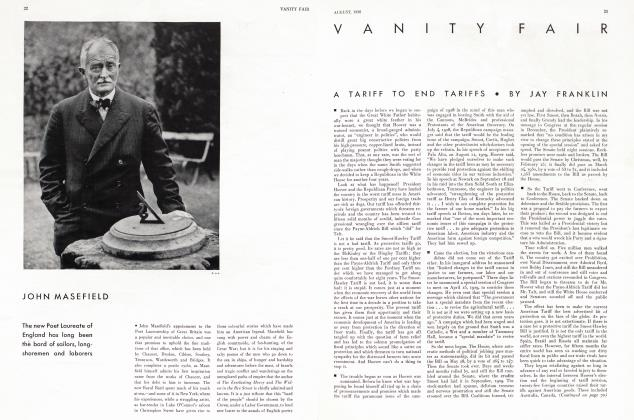 Article Preview: A TARIFF TO END TARIFFS, August 1930 1930   Vanity Fair