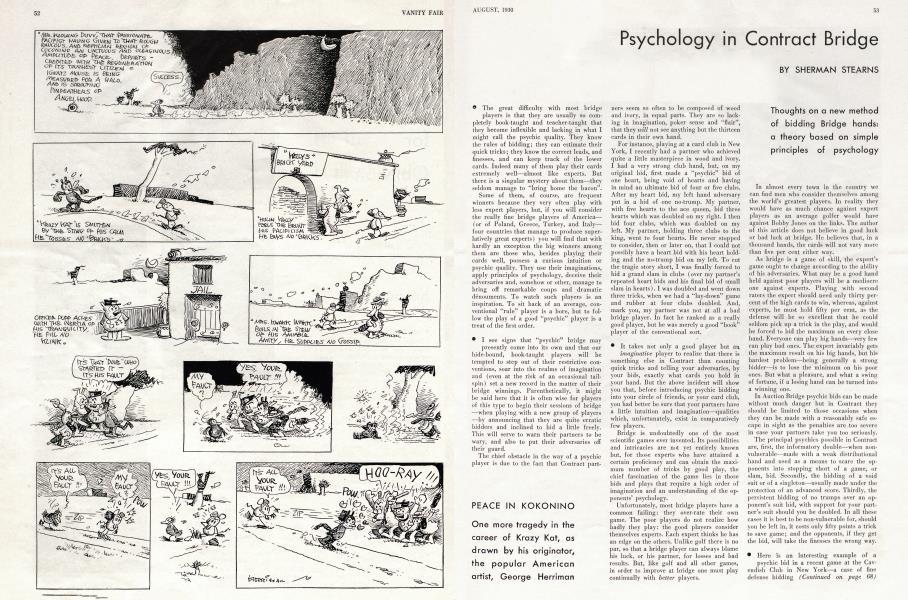 Psychology in Contract Bridge