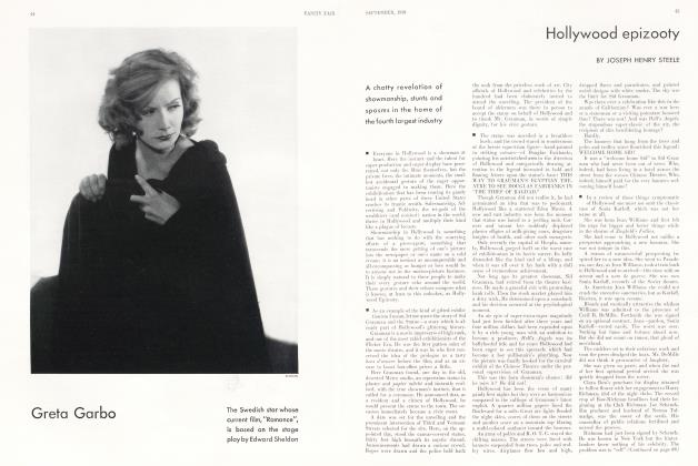 Article Preview: Hollywood epizooty, September 1930 1930 | Vanity Fair