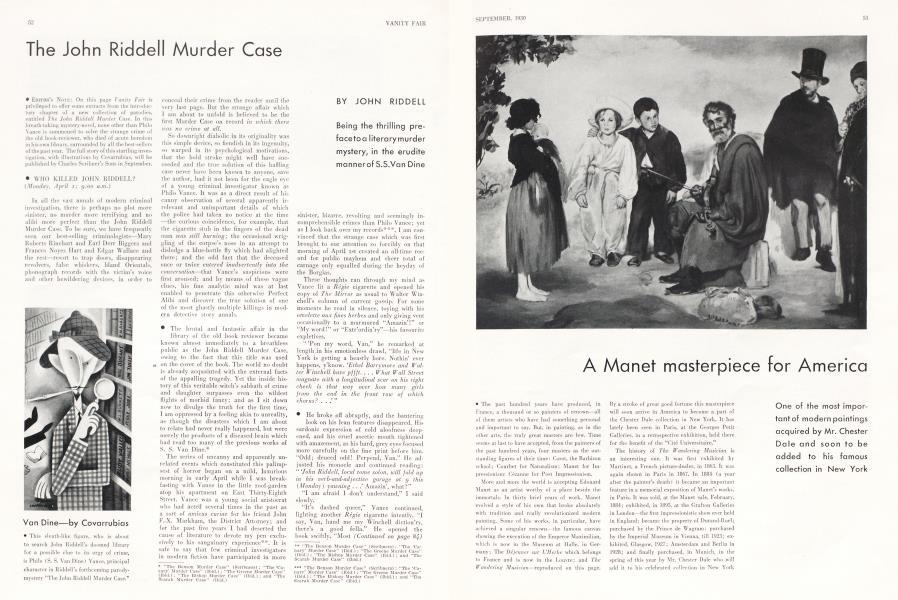 The John Riddell Murder Case