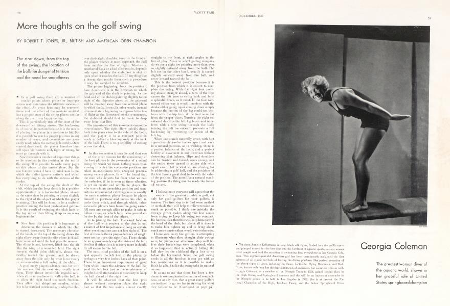 More thoughts on the golf swing