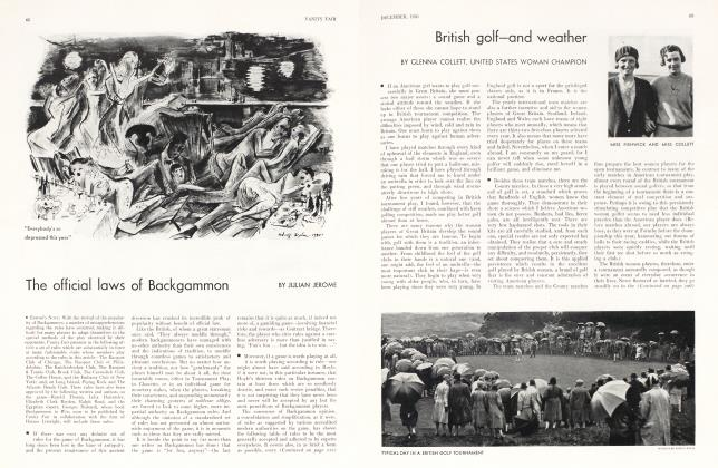 Article Preview: The official laws of Backgammon, December 1930 1930 | Vanity Fair