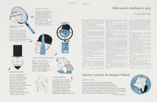 Article Preview: Hollywood—sketched in acid, February 1931 1931 | Vanity Fair