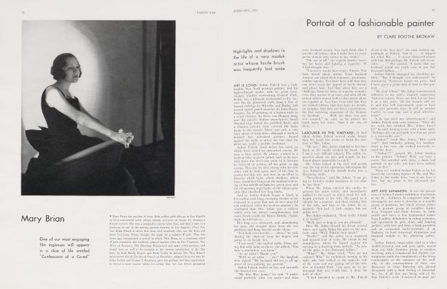Article Preview: Portrait of a fashionable painter, February 1931 1931 | Vanity Fair