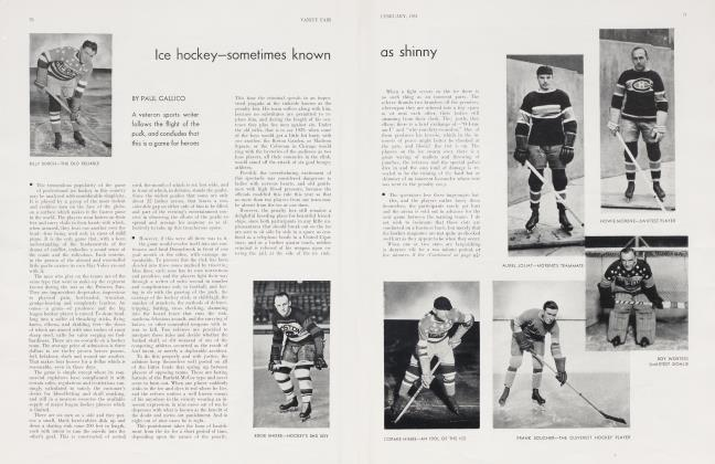 Article Preview: Ice hockey—sometimes known as shinny, February 1931 1931 | Vanity Fair