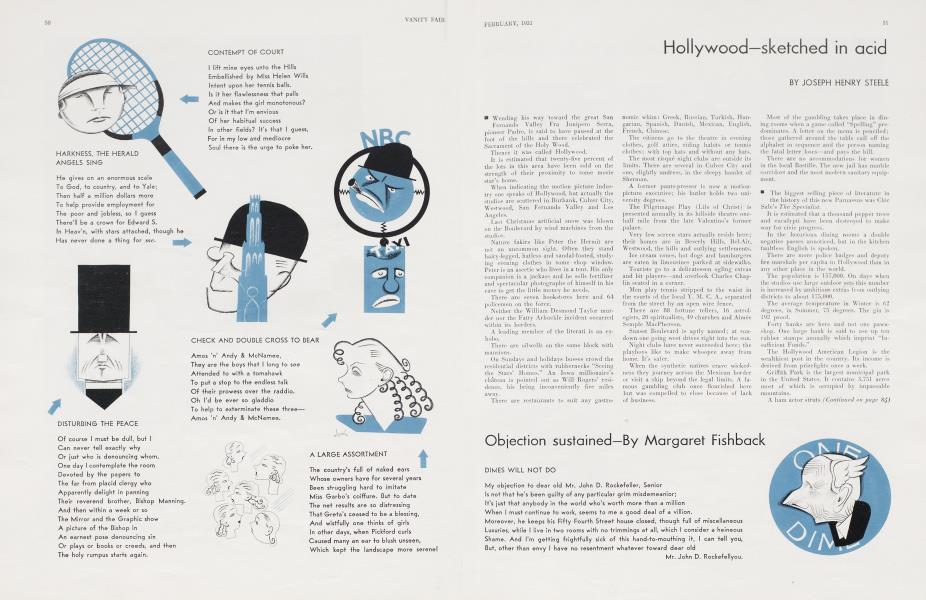 Hollywood—sketched in acid