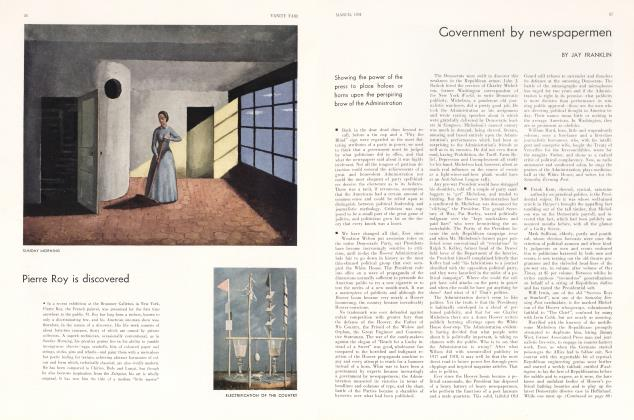 Article Preview: Government by newspapermen, March 1931 1931   Vanity Fair