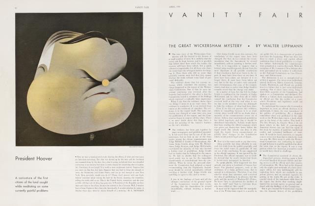 Article Preview: President Hoover, April 1931 1931 | Vanity Fair