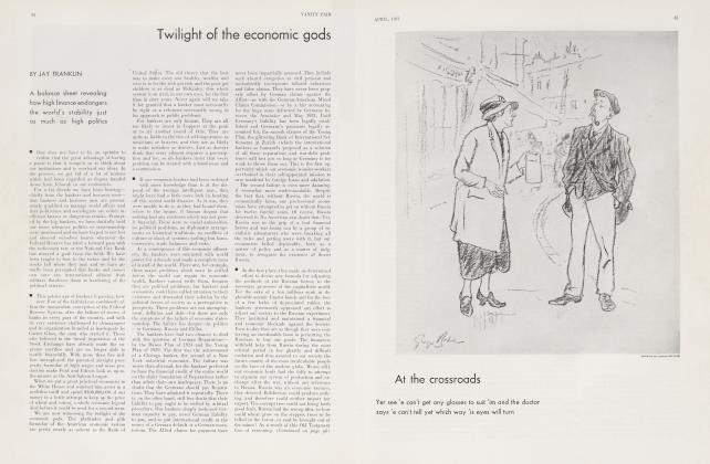 Article Preview: Twilight of the economic gods, April 1931 1931   Vanity Fair