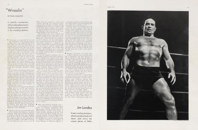 "Article Preview: ""Wrasslin"", April 1931 1931 