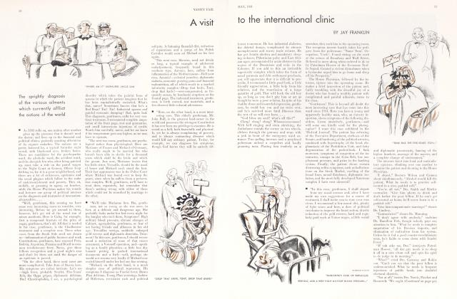 Article Preview: A visit to the international clinic, May 1931 1931 | Vanity Fair