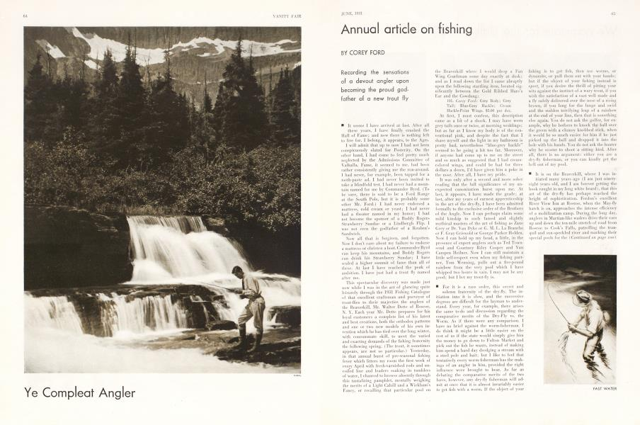Annual article on fishing