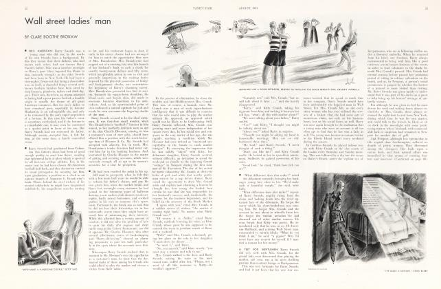 Article Preview: Wall street ladies' man, August 1931 1931 | Vanity Fair