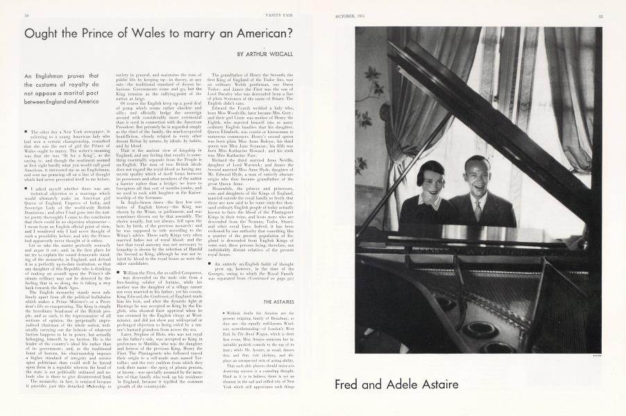 Ought the Prince of Wales to marry an American?