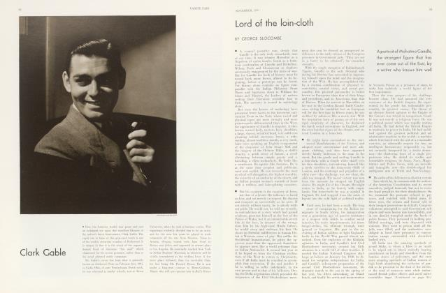 Article Preview: Lord of the loin-cloth, November 1931 1931 | Vanity Fair