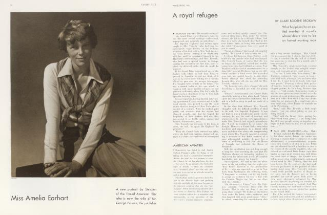 Article Preview: Miss Amelia Earhart, November 1931 1931 | Vanity Fair