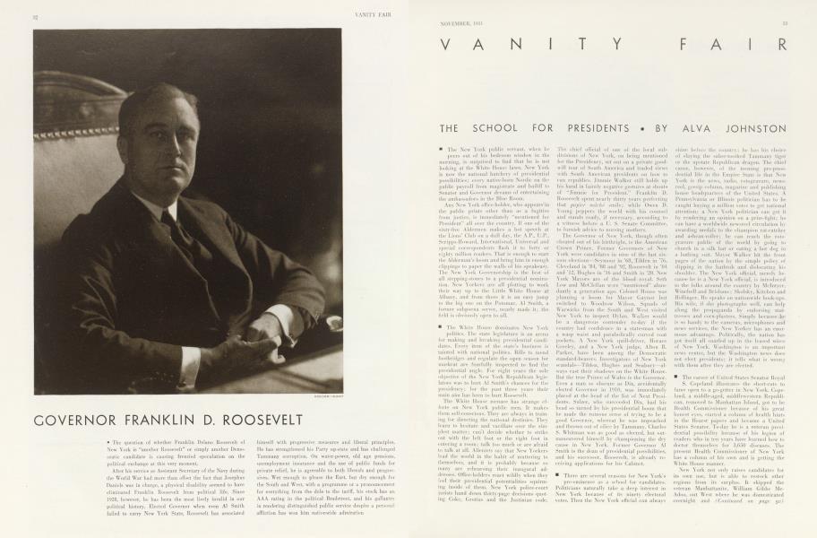 GOVERNOR FRANKLIN D. ROOSEVELT