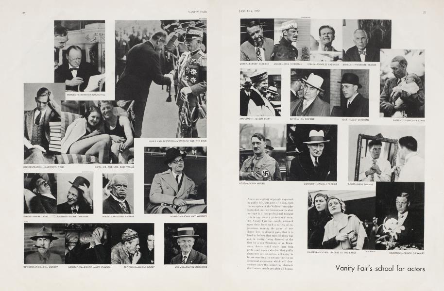 Vanity Fair's school for actors