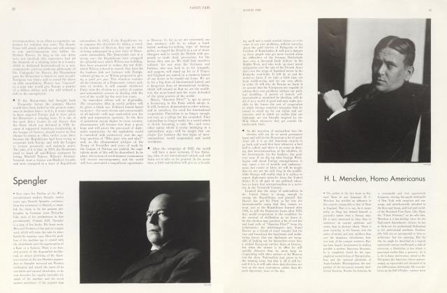 Article Preview: H. L. Mencken, Homo Americanus, March 1932 1932 | Vanity Fair