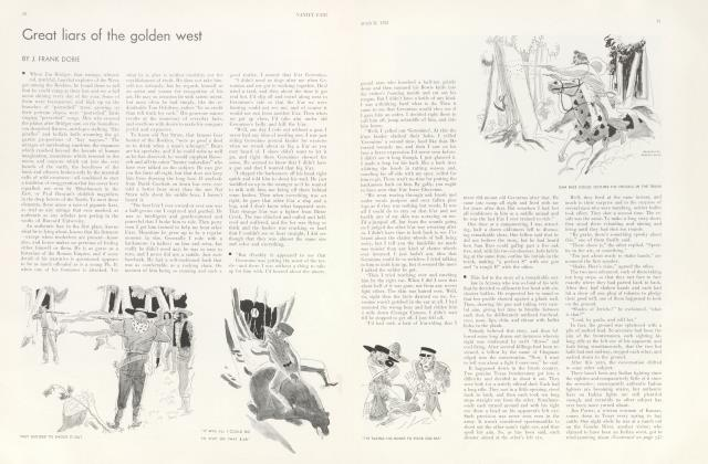 Article Preview: Great liars of the golden west, March 1932 | Vanity Fair