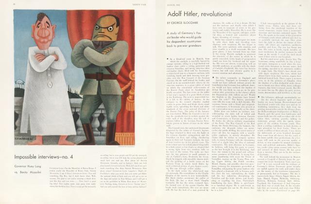 Article Preview: Adolf Hitler, revolutionist, March 1932 1932 | Vanity Fair