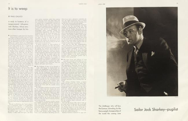 Article Preview: It is to weep, April 1932 | Vanity Fair