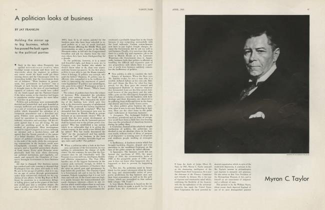 Article Preview: A politician looks at business, April 1932 | Vanity Fair