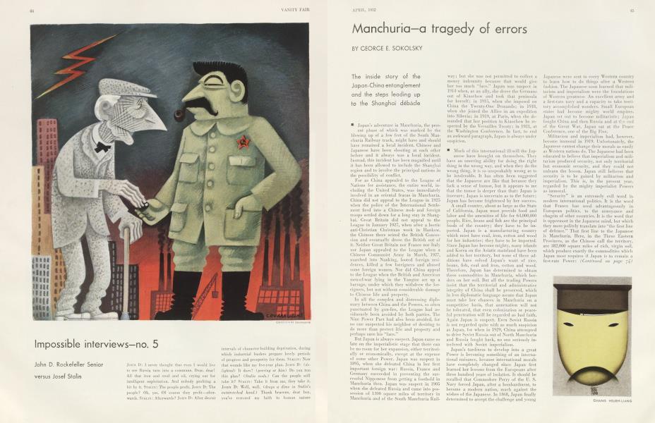 Manchuria—a tragedy of errors