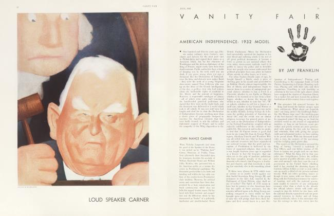 Article Preview: AMERICAN INDEPENDENCE: 1932 MODEL, July 1932 1932 | Vanity Fair