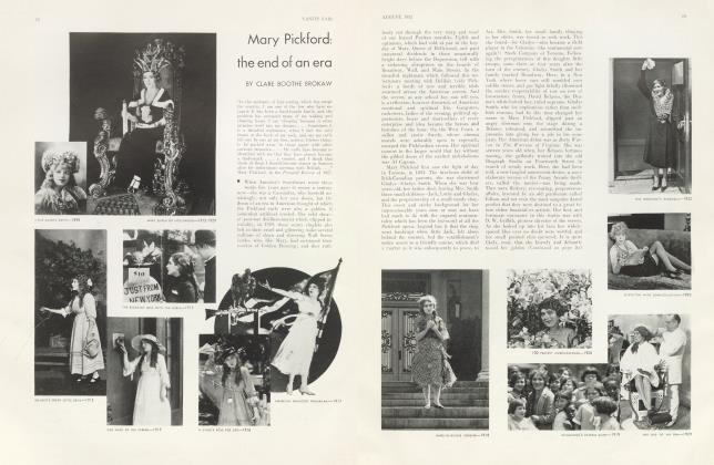 Article Preview: Mary Pickford: the end of an era, August 1932 | Vanity Fair