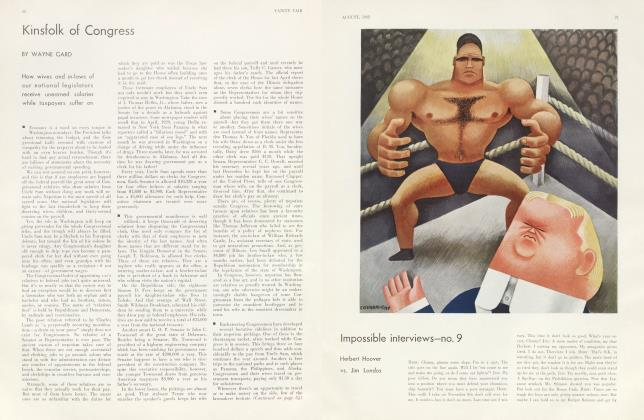 Article Preview: Kinsfolk of Congress, August 1932 1932 | Vanity Fair