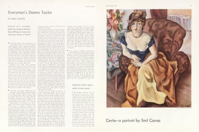 Article Preview: Everyman's Deems Taylor, September 1932 1932 | Vanity Fair