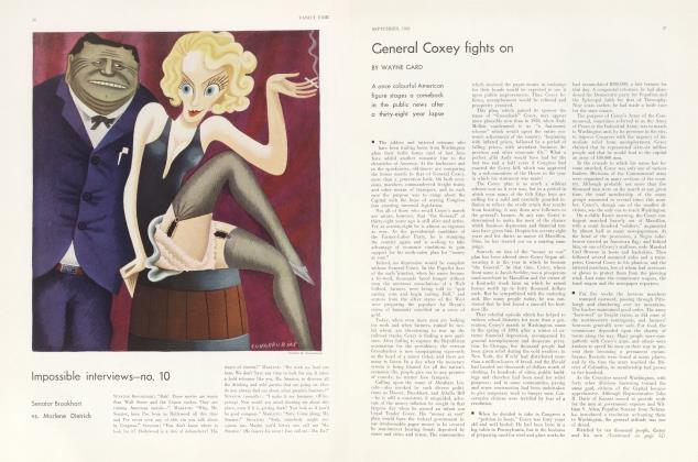 Article Preview: General Coxey fights on, September 1932 | Vanity Fair