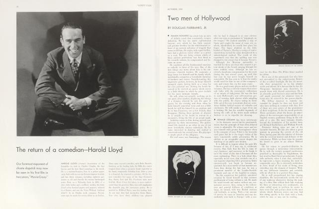 Article Preview: The return of a comedian—Harold Lloyd, October 1932 1932 | Vanity Fair