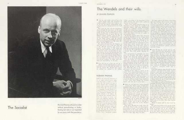 Article Preview: The Wendels and their wills, October 1932 | Vanity Fair