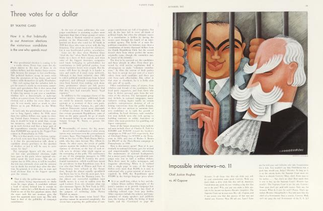 Article Preview: Three votes for a dollar, October 1932 | Vanity Fair