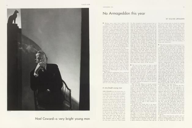 Article Preview: Noel Coward—a very bright young man, November 1932 1932 | Vanity Fair