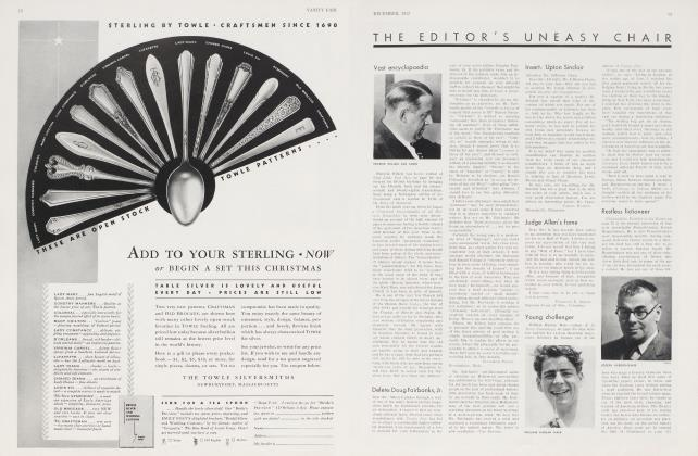 Article Preview: THE EDTOR'S UNEASY CHAIR, December 1932 | Vanity Fair