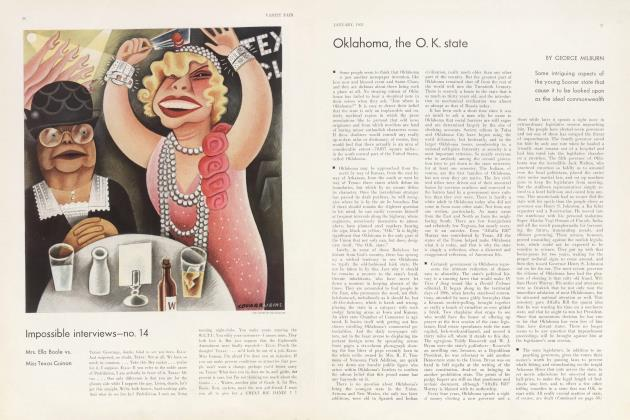 Article Preview: Oklahoma, the O. K. state, January 1933 | Vanity Fair