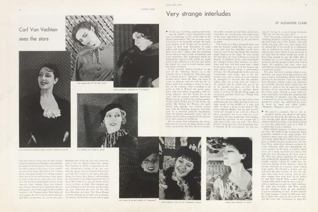 Article Preview: Very strange interludes, January 1933 | Vanity Fair