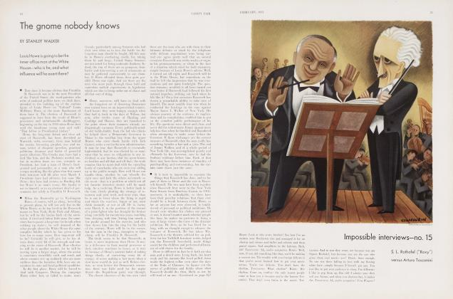 Article Preview: The gnome nobody knows, February 1933 | Vanity Fair