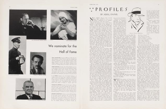Article Preview: PROFILES, February 1933 1933 | Vanity Fair