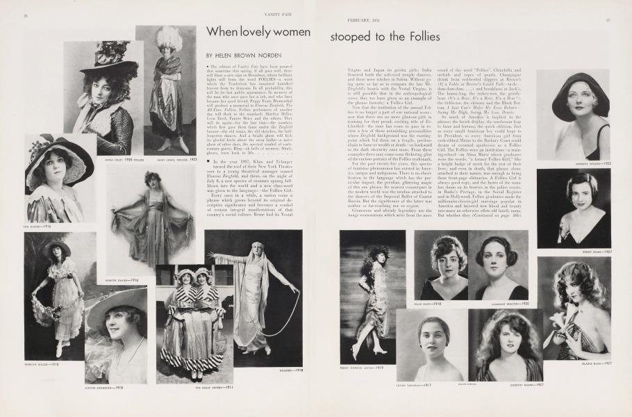 When lovely women stooped to the Follies