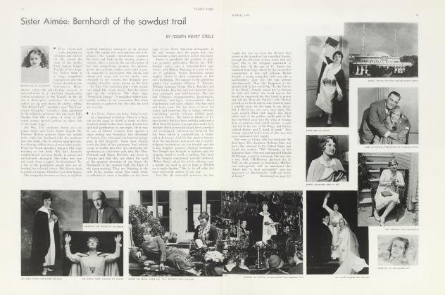 Article Preview: Sister Aimée: Bernhardt of the sawdust trail, March 1933 | Vanity Fair
