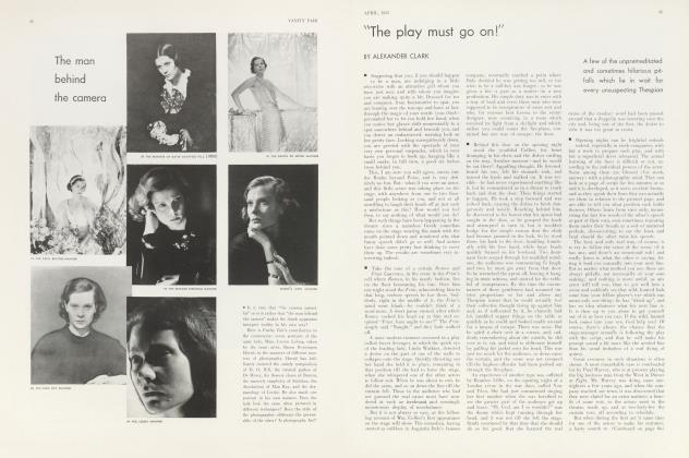 """Article Preview: """"The play must go on!"""", April 1933 