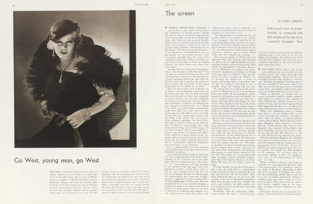 Article Preview: The screen, May 1933 1933 | Vanity Fair