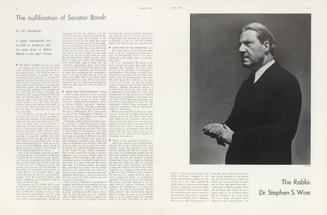 Article Preview: The nullification of Senator Borah, June 1933   Vanity Fair