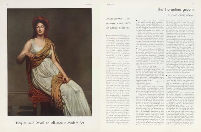 Article Preview: The Florentine groom, June 1933 | Vanity Fair