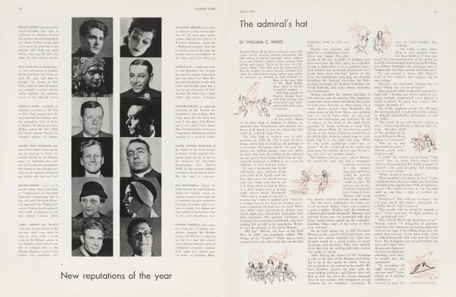 Article Preview: The admiral's hat, July 1933 | Vanity Fair