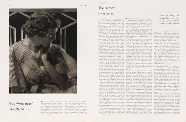 Article Preview: The screen, August 1933 1933 | Vanity Fair